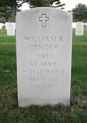 William R. Cender's tombstone picture