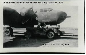 321st BG, 446th BS, B-25 Eager Beaver flown by Lt James Beavers II MTO WWII