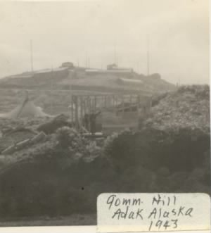 90mm hill_Adak Alaska August 1943
