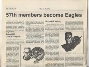 General Bob Knapp became an EAGLE.  Book by Ollie Smith
