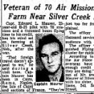 "Edward Maurer, Home from ** 70 Combat Missions ** in 310thBG ""Buy a FARM"""