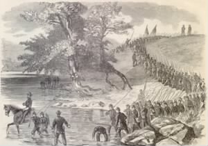 The Corn Exchange Regiment Crossing the Potomac