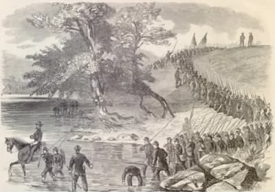 The Corn Exchange Regiment Crossing the Potomac - Fold3.com