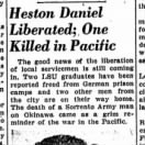 26 May, 1945, Article about Heston