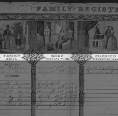 Family Bible Record