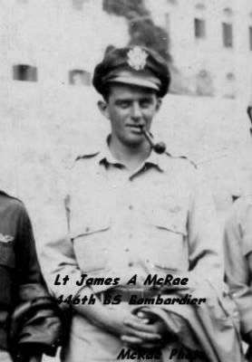 321stBG,446thBS, Lt James A McRae, B-25 Bombardier, Corsica/ MTO WWII