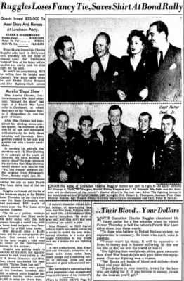 1944 Bonb Tour, Canton Ohio Newspaper, Capt Peter Seel, Jr. (Pg ONE)