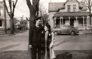 Bill and Betty in front of 212 W. Main St., Tipp City, Ohio