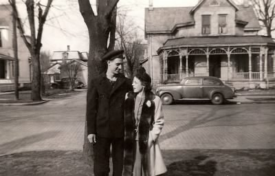 Bill and Betty in front of 212 W. Main St., Tipp City, Ohio - Fold3.com