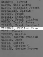 Tinsman, William Haze