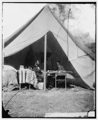 3748 - Antietam, Md. President Lincoln and Gen. George B. McClellan in the general's tent › Page 1 - Fold3.com