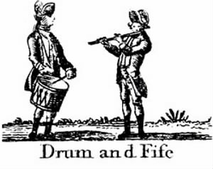 American Revolution Fifer and Drummer