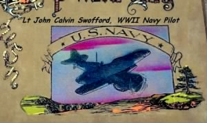 Lt John Calvin Swofford was a US Navy Pilot during WWII