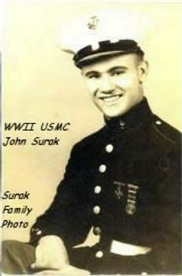 USMC John Paul Surak, Marine during WWII