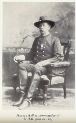 Major Horace C Bell In Uniform 1884