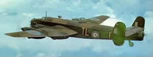Halifax Bomber from Leeming, England.  Ogden was a Combat Pilot in the ETO / WWII