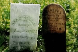 Isaac and Rebecca DeHaven Tombstones, Covington, Indiana