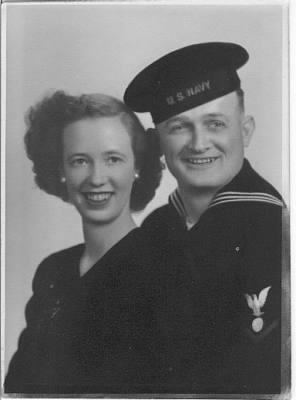 Carl V Yandell and Lois Martindale Wedding Photo