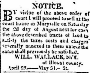 William Wallace 1823 Blount Co Tax Notice.JPG