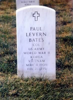 bates paul headstone arlington