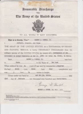 Honorable Discharge from the Army of the United States