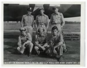310thBG,381stBS, Lt Robert Killian, Pilot with his CREW on Corsica.1944