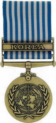 United Nations Service Medal, Korea