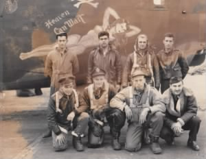 "Lt. W. Baxter Weant's flight crew on ""Heaven Can Wait"""