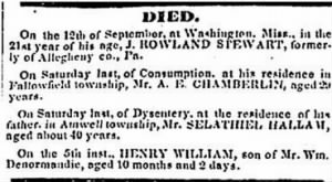 Arthur E. Chamberlin 1853 Death Notice.JPG