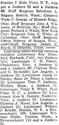 LIST of Victors;  Richmond Va, April 12, 1943 / James Black