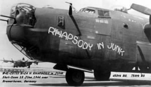 RHAPSODY IN JUNK Lost over Bremerhaven, Ger. 458 BG, 754 BS, 18 Jun 44.jpg