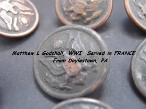 Matthew L Godshall served in the U S ARMY in France during WWI /Doylestown, PA