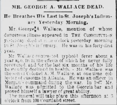 George A Wallace 1887 Death Notice2.JPG - Fold3.com