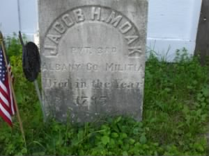 Jacob Moak headstone