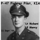 11 Sept.'44, Lt Richard P Marcy was Shot-down in Spinozza, Italy in his P-47