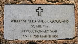 Gravestone of William Alexander Goggans