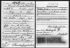 Clarence Langdon Bebee WWI Draft Card