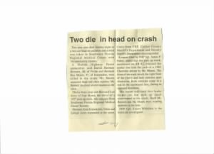 Bernard Roy Moore Death Newspaper Article 2