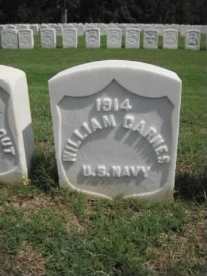 Seaman William Carnes Navy Headstone