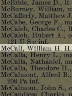 McCall, William H H