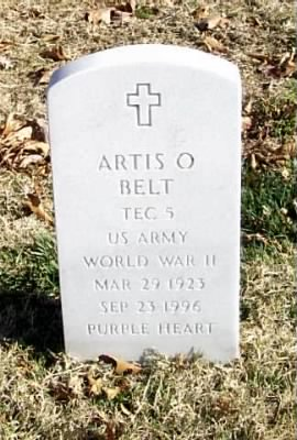 Tec 5 Artis O Belt Army Headstone