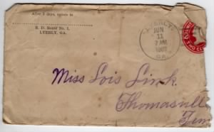 Letter from Dolph Barker to Lois Link dated 9 Jun 1909 - Env