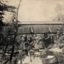 Mentone, Ala. Bridge Over DeSoto River Postcard