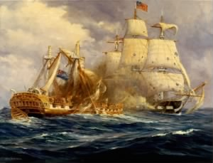 USS Constitution v HMS Guerriere