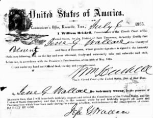 Jesse G Wallace 1865 Loyalty Oath2.jpg