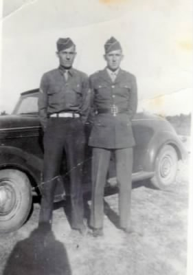 Logan J. Wilkins (right) with cousin Gene Wilkins in Cave City, Arkansas