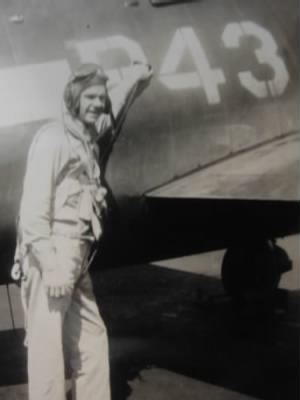 Frank beside his airplane circa 1940's