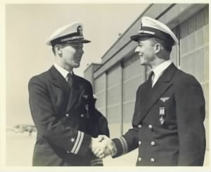 Richard Edwin Schreder Receiving Distinguished Flying Cross