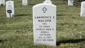 Lawrence E Malone Arlington Nation Cemetery