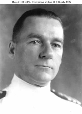 Commander William H. P. Blandy, USN